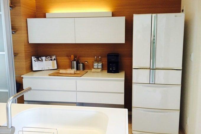 冷蔵庫と作業台