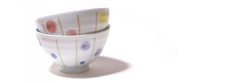 ペアの茶碗