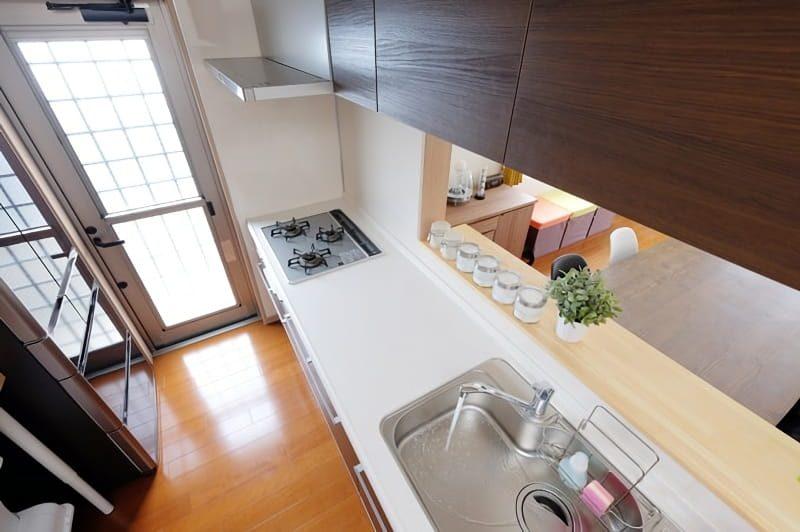 上から見たキッチン