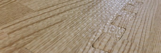 木目調のジョイントマット