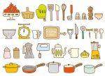キッチン用品のイメージイラスト