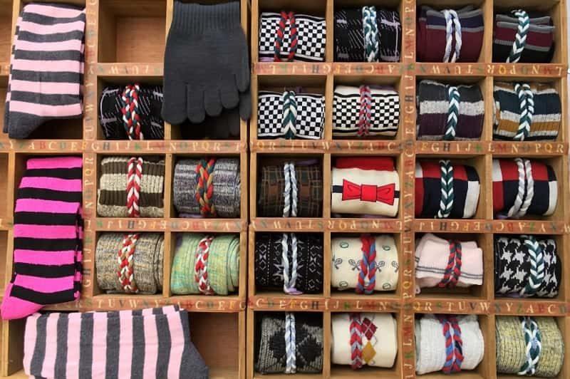 靴下の個別収納