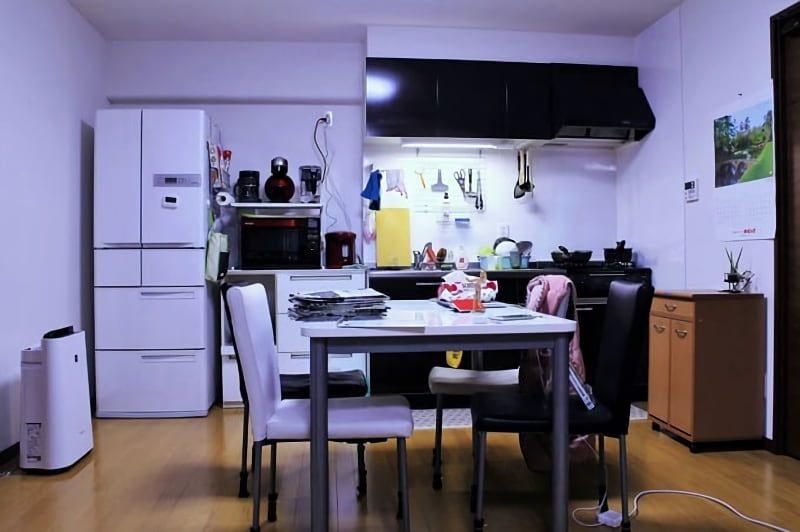 生活感のあるダイニングキッチン